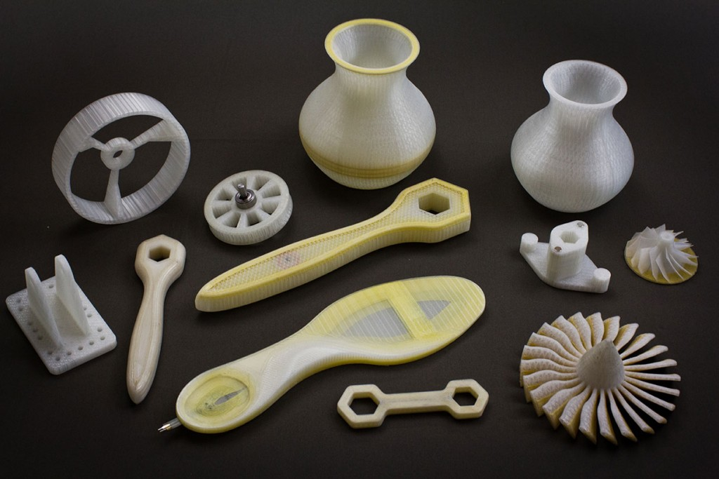 Products created by industrial 3D printing